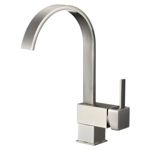 yodel swivel head modern kitchen wet bar sink faucet brushed nickel
