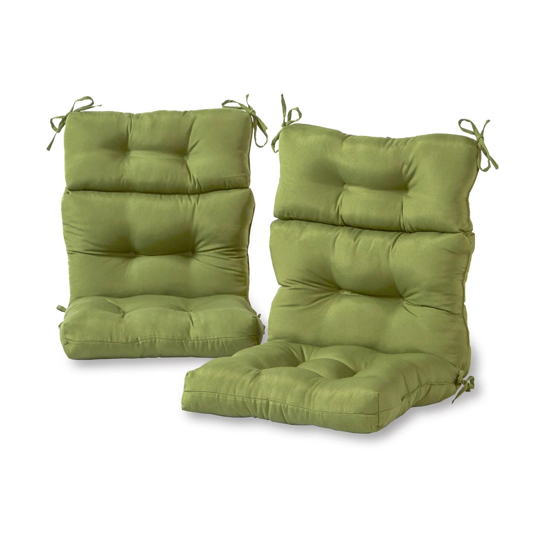 greendale home fashions solid outdoor high back chair cushion set of 2 walmart com walmart com