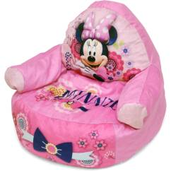 Minnie Mouse Bean Bag Chair Paisley Accent Character Figural Toddler Walmart Com
