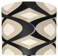Geometric Lamp Shade in Black