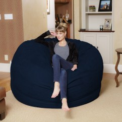 6 Foot Bean Bag Chair High Converts To Table And Chill Sack Giant Ft Multiple Colors Fabrics Walmart Com