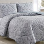 Mellanni Bedspread Coverlet Set Beige Comforter Bedding Cover Oversized 3 Piece Quilt Set King Cal King Beige Walmart Com Walmart Com