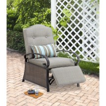 Mainstays Ashwood Outdoor Cushioned Recliner Chair