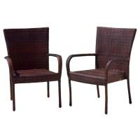 Wicker Brown Outdoor Chairs - Walmart.com