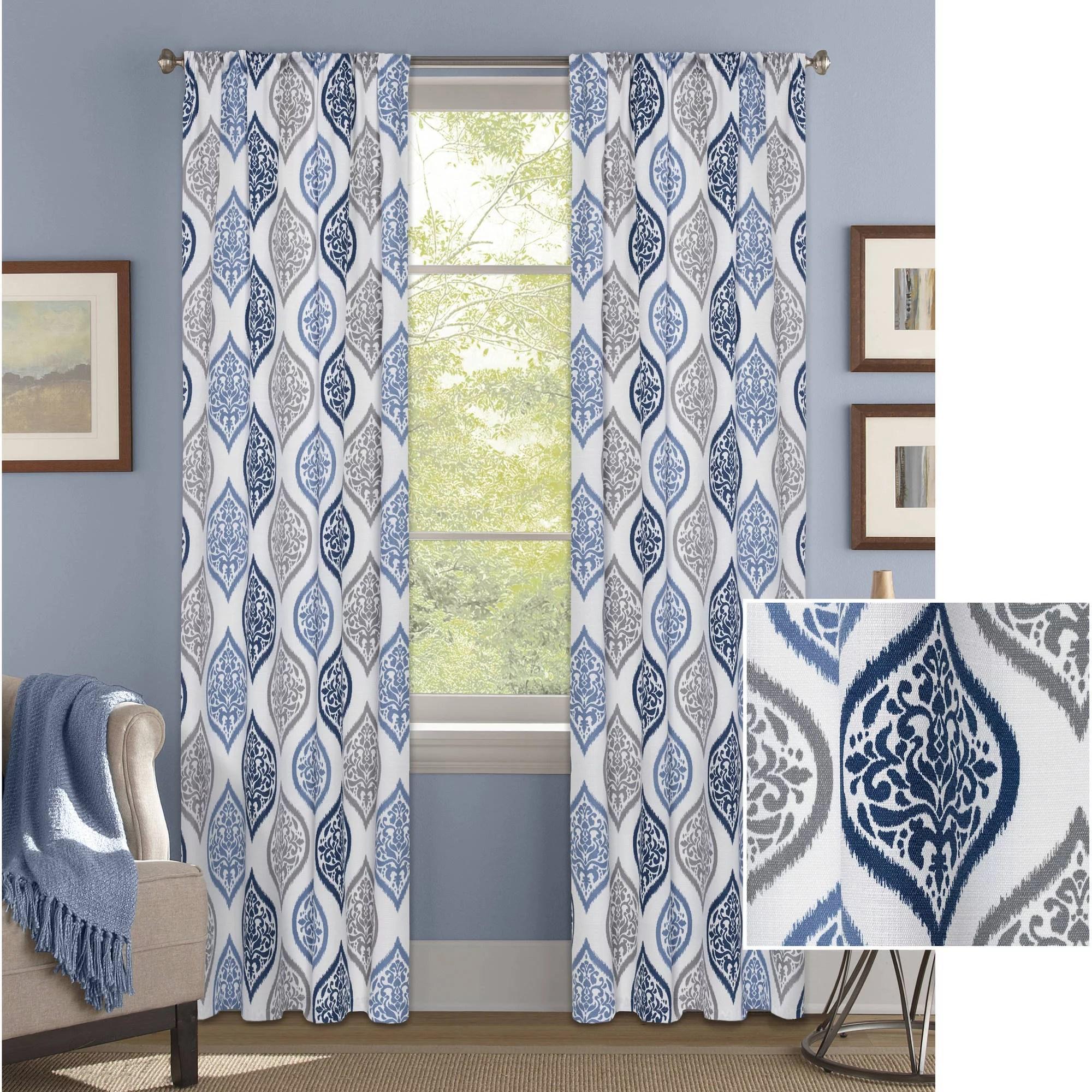 better homes gardens damask ogee curtain panel