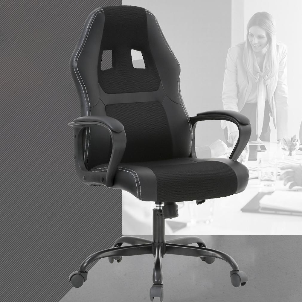 racing desk chair zebra print chairs office gaming ergonomic computer with lumbar support mesh seat metal