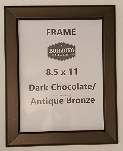 dark chocolate antique bronze snap frame 8 5x11 inches front loading quick poster change wall mounted heavy duty