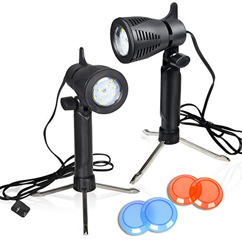 emart photography led continuous light lamp 5500k portable camera photo lighting for table top studio 2 sets