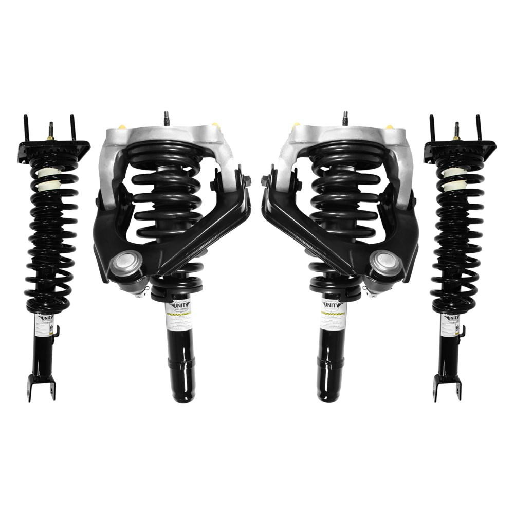 medium resolution of unity 4 11651 15384 001 front and rear 4 wheel complete strut assembly kit 1999 2000 chrysler sebring convertible only walmart com