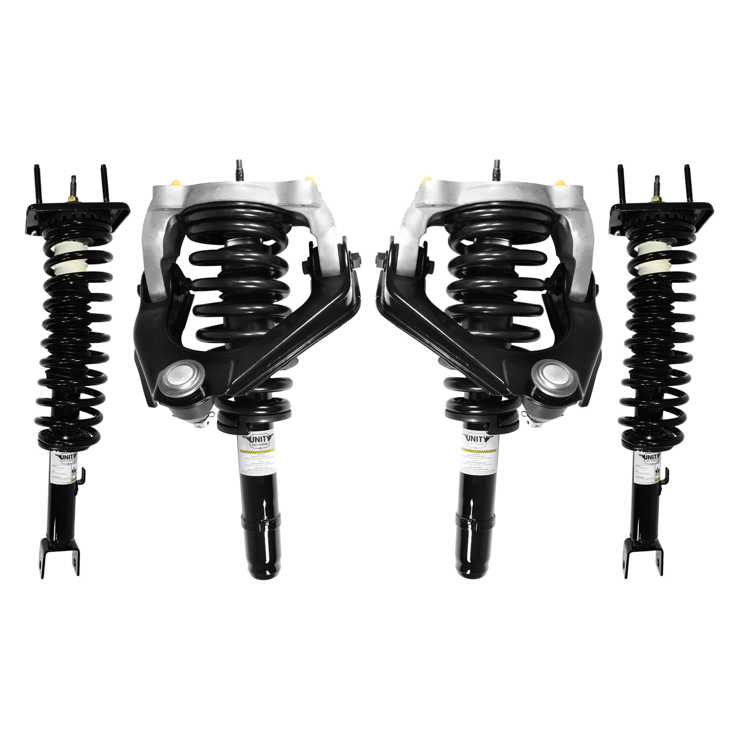 hight resolution of unity 4 11651 15384 001 front and rear 4 wheel complete strut assembly kit 1999 2000 chrysler sebring convertible only walmart com