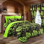 Lime Camouflage Queen Size 8pc Comforter Sheet Pillowcases And Bed Skirt Set Camo Bedding Sheet Set For Hunters Teens Boys And Girls Walmart Com Walmart Com