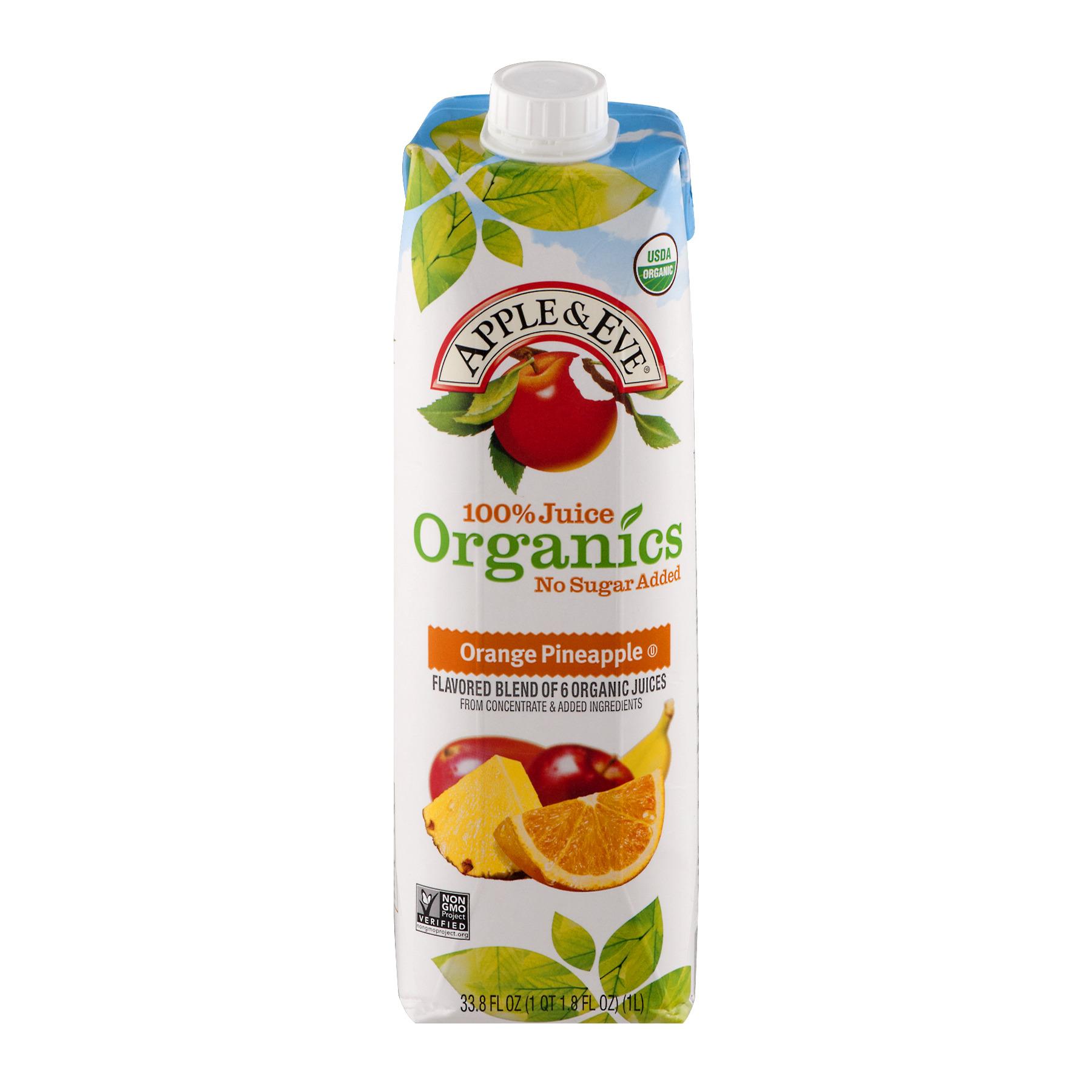 Apple Eve 100 Juice Organics Orange Pineapple Juice 33