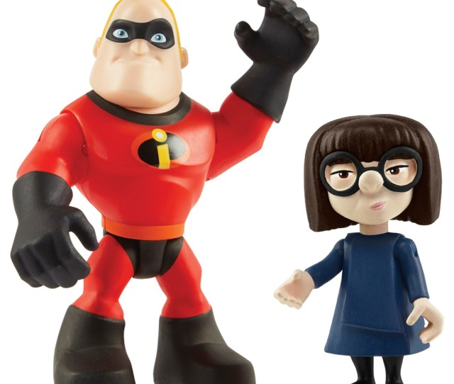 The Incredibles  Inch Mr Incredible Edna 2 Pack Action Figures Walmart Com