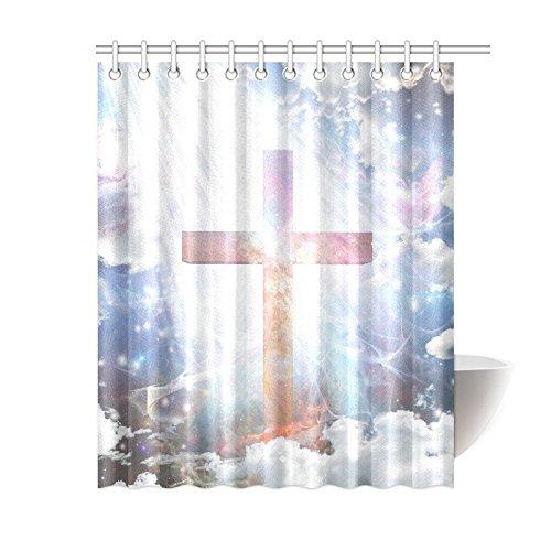 MKHERT Religious Cross in Sparkling Light Decor Waterproof
