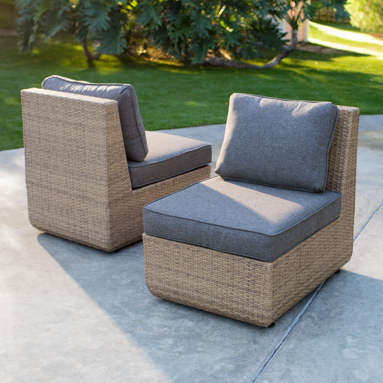 Outside Lounge Chairs Belham Living Luciana Villa All Weather Wicker Lounge Chair Set Of 2