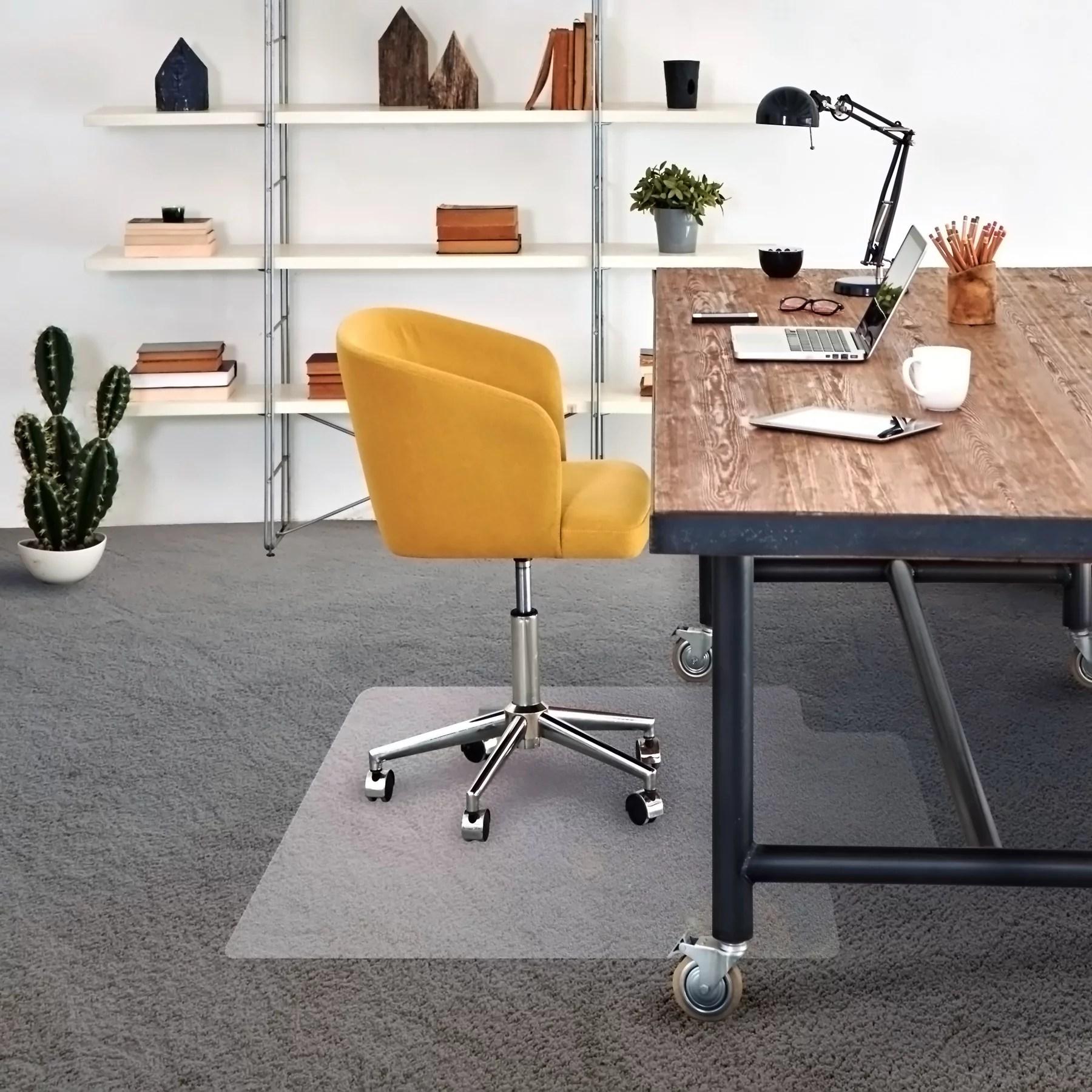 desk chair mat for carpet inexpensive covers cleartex advantagemat low pile carpets clear pvc rectangular with lip size 36 x 48 walmart com