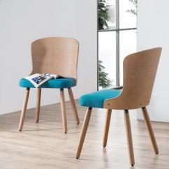 Bamboo Dining Chair Lift Recliners Elderly Corvus Calvados Mid Century Modern Chairs Set Of 2 Walmart Com