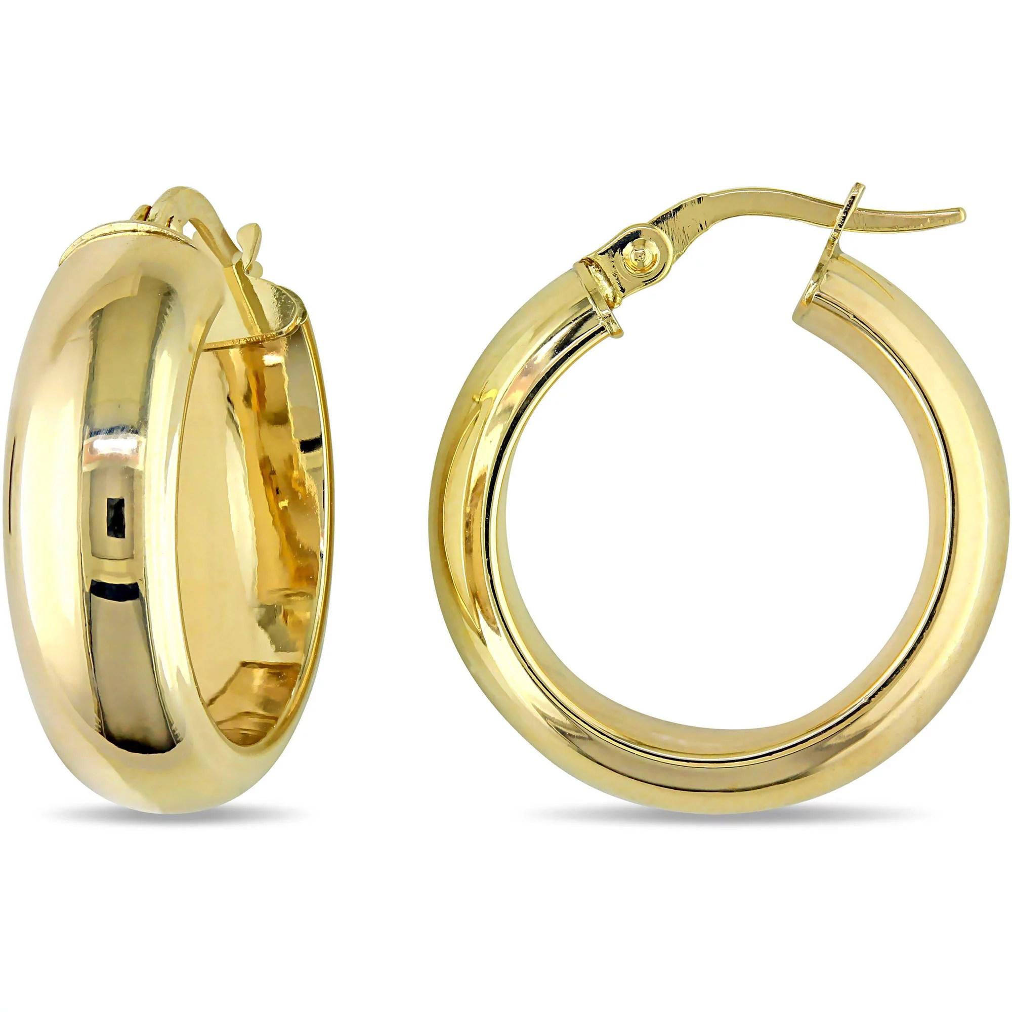 Classic 10 Karat Yellow Gold Hoop Earrings (20mm Diameter
