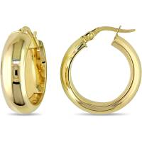 Classic 10 Karat Yellow Gold Hoop Earrings (20mm Diameter