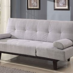 Microfiber Fabric Sofa Zebra Bed Simple Relax Cybil Collection Comfort Adjustable Futon 4 Colors Silver Walmart Com