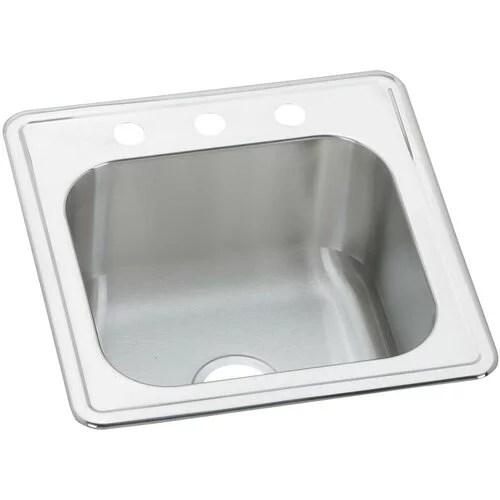 elkay elkay celebrity stainless steel 20 x 20 single bowl drop in kitchen sink