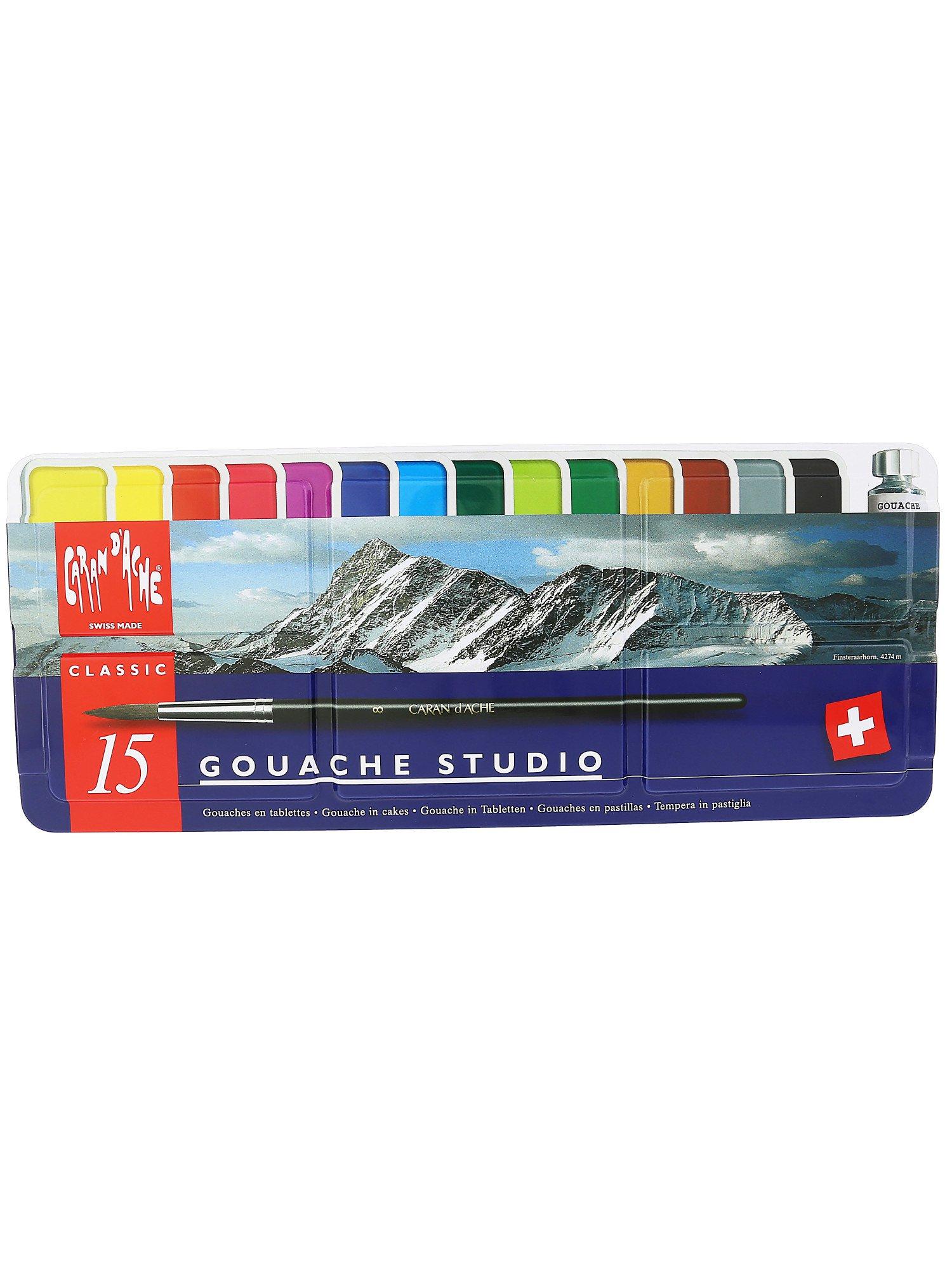 Gouache Pans : gouache, Caran, D'Ache, Gouache, Studio, Craft, Paint, 7610186143151, Walmart, Canada