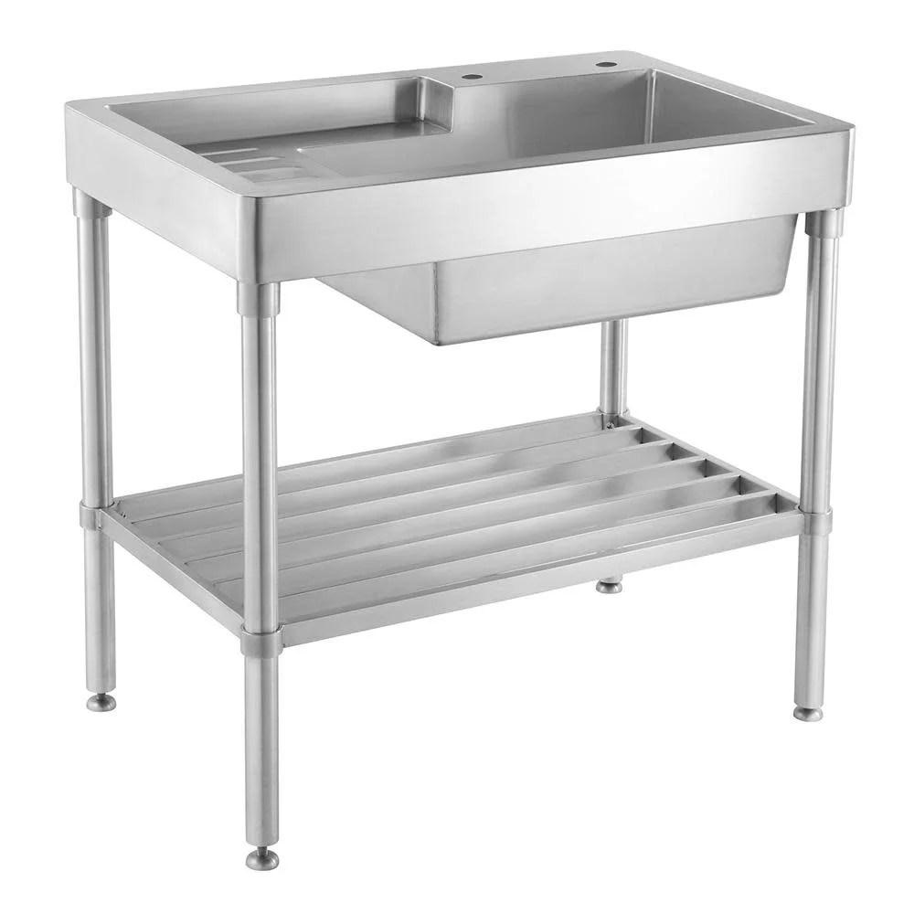 whitehaus wh33209 leg np pearlhaus 30 inch single bowl freestanding utility sink walmart com