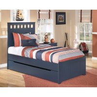 Signature Design by Ashley Leo Twin Panel Bed with Trundle ...