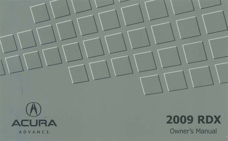 Bishko OEM Maintenance Owner's Manual Bound for Acura Rdx