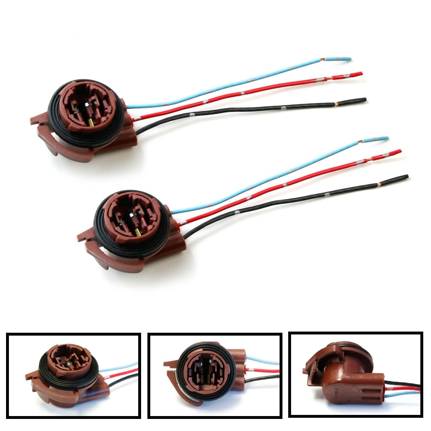small resolution of ijdmtoy 2 3156 3157 pre wired harness sockets for repair wiring led dimmers ijdmtoy