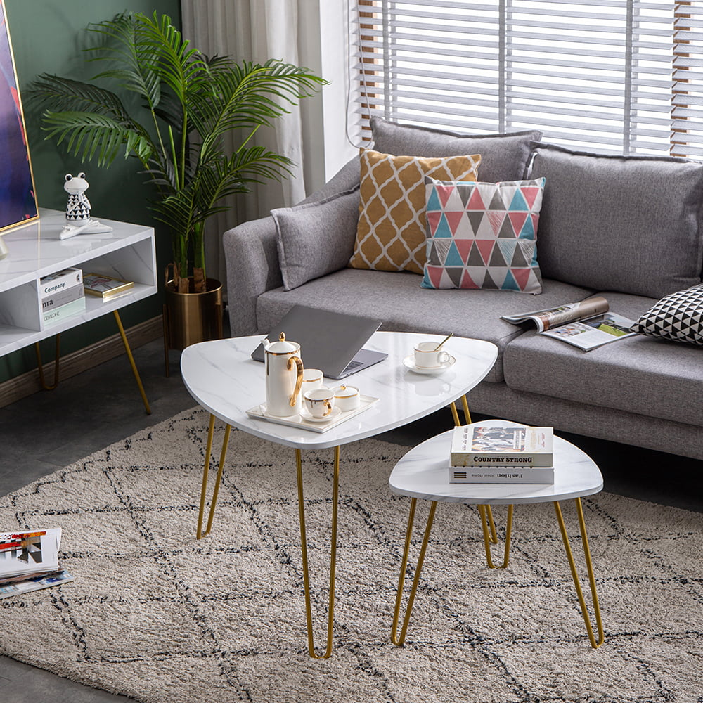 simple living room end table set nesting coffee tables set of 2 modern furniture decor side table sets marble bedside tables contemporary accent