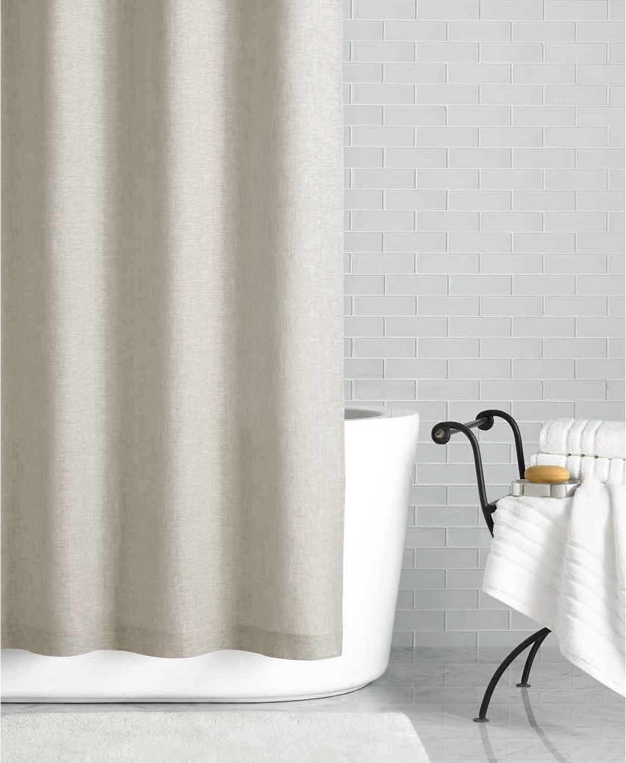 hotel collection linen extra long shower curtain great way to update your bathroom 72 inch by 84 inch beige