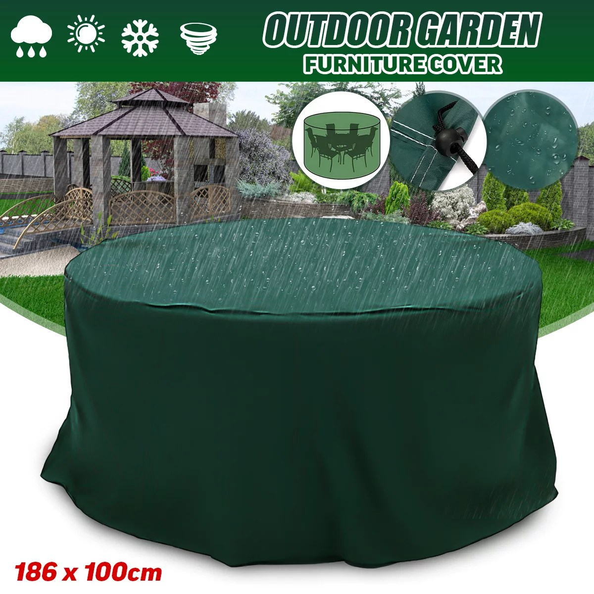 outdoor patio furniture round table covers