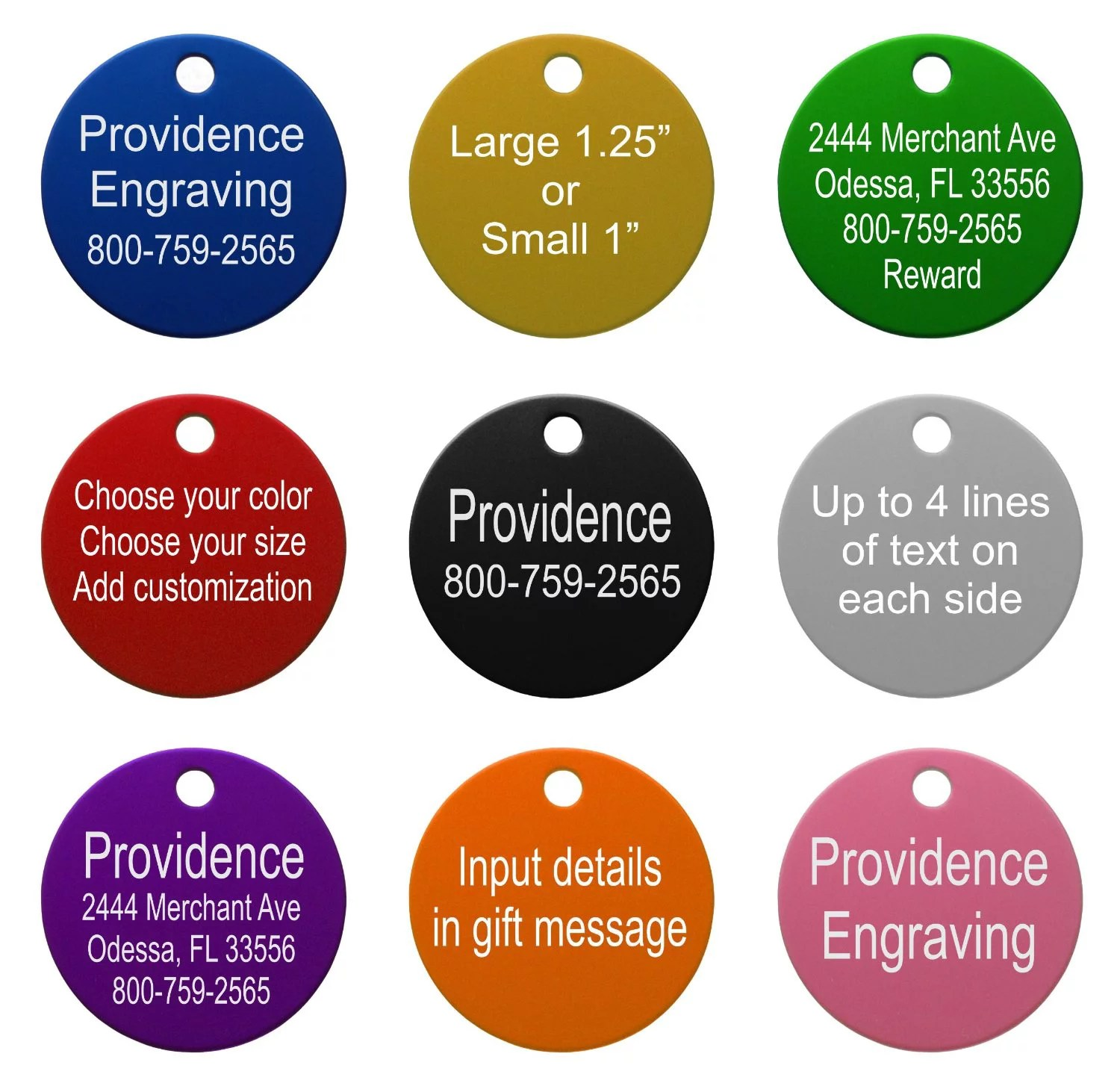 pet id tags up