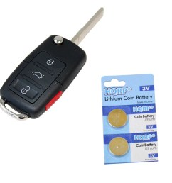 hqrp transmitter and two batteries for volkswagen vw beetle 2000 2001 2002 2003 2004 2005 2006 2007 2008 2009 00 01 02 03 04 05 06 07 08 09 key fob remote  [ 1100 x 1100 Pixel ]