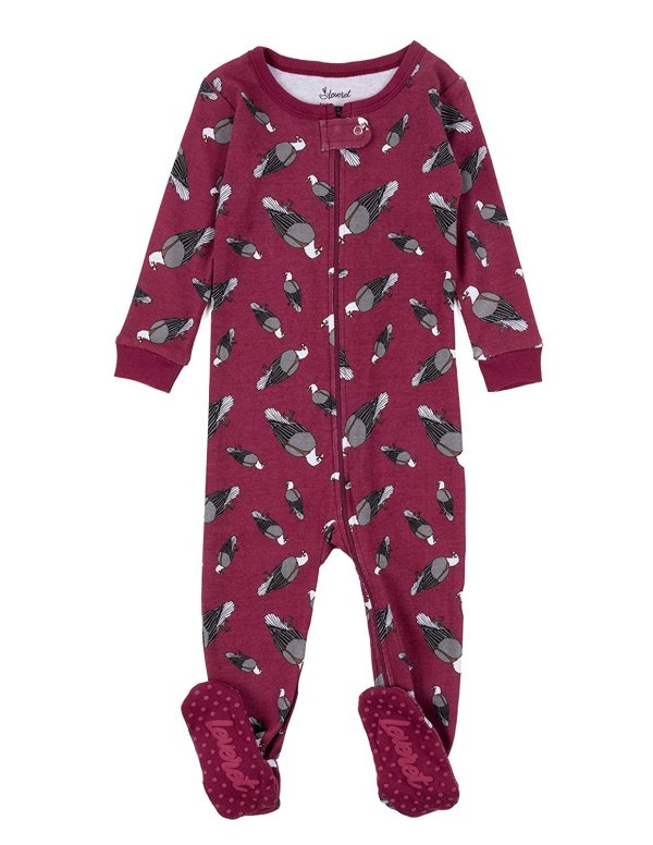 Leveret Kids Pajamas Baby Boys Girls Footed Sleeper 100 Cotton Eagle Size 5 Toddler