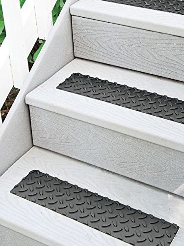 Peel N Stick Outdoor Non Slip Stair Treads Walmart Com Walmart Com | Stick On Stair Treads | Step | Unique | Maple Stair | Integrated Post | Solid Weathered