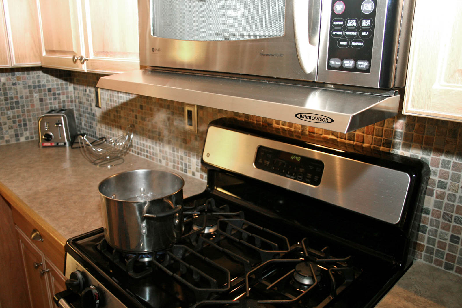microvisor microwave over the range removable mini hood extension stainless steel