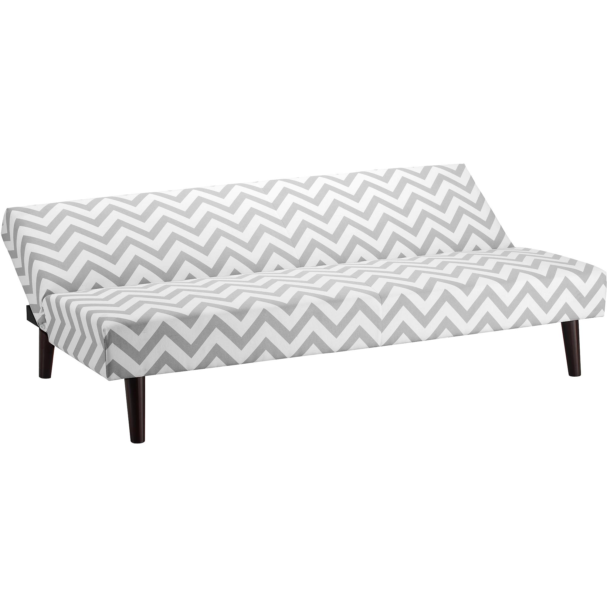julia cupholder convertible futon sofa bed white alice style walmart home decor