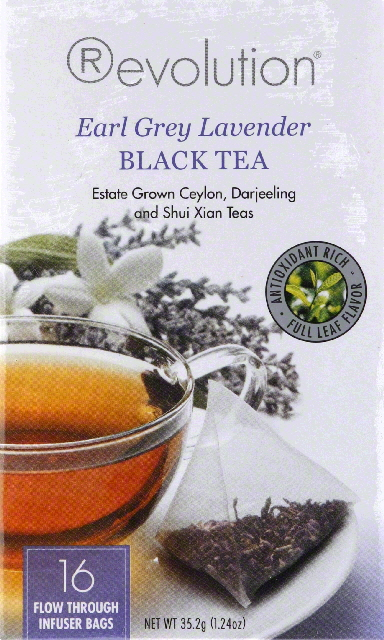 Revolution Earl Grey Lavender Black Tea Bags 16ct