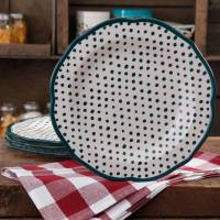 The Pioneer Woman Retro Dots Dinner Plate Set, 4-Pack ...
