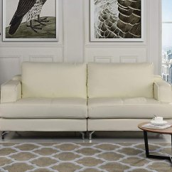 T57b Ultra Modern Leather Sectional Sofa For Small Room Plush Living Beige