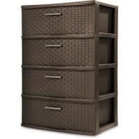 4 Drawer Organizer Wide Storage Cart Bin Container Set Of ...
