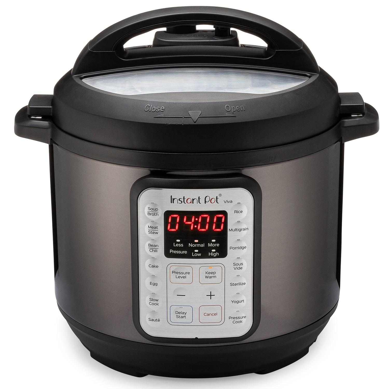 Instant Pot VIVA Black Stainless 6-Quart 9-in-1 Multi-Use Programmable Pressure Cooker, Slow Cooker, Rice Cooker, Yogurt Maker, Cake Maker, Egg Cooker, Saut, with Sous Vide and Sterilizer