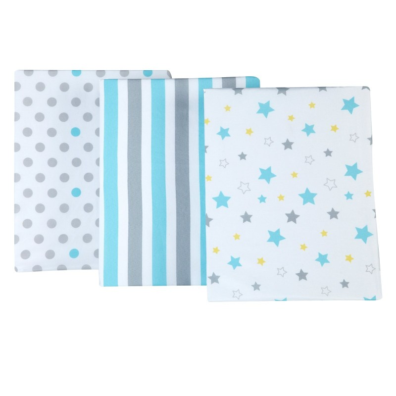 Nojo Cotton-Polyester Crib Sheets, Twinkle Twinkle 3pk
