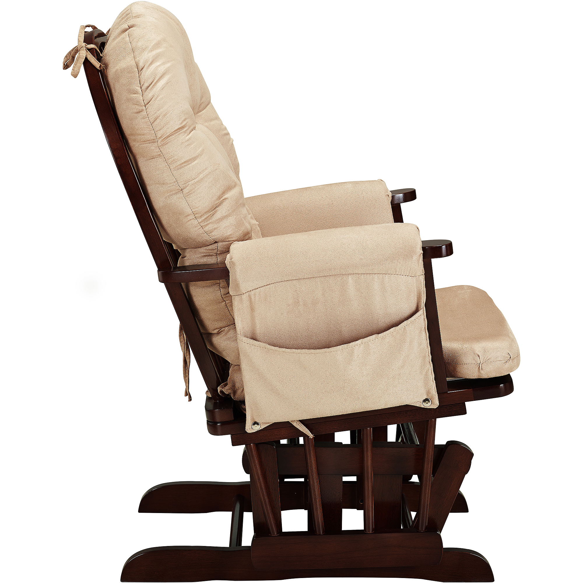 cushions for glider chairs gray recliner chair covers baby relax harbour rocker and ottoman cherry with beige walmart com