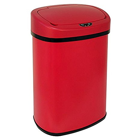 BestOffice New Red 13Gallon Touch Free Sensor Automatic