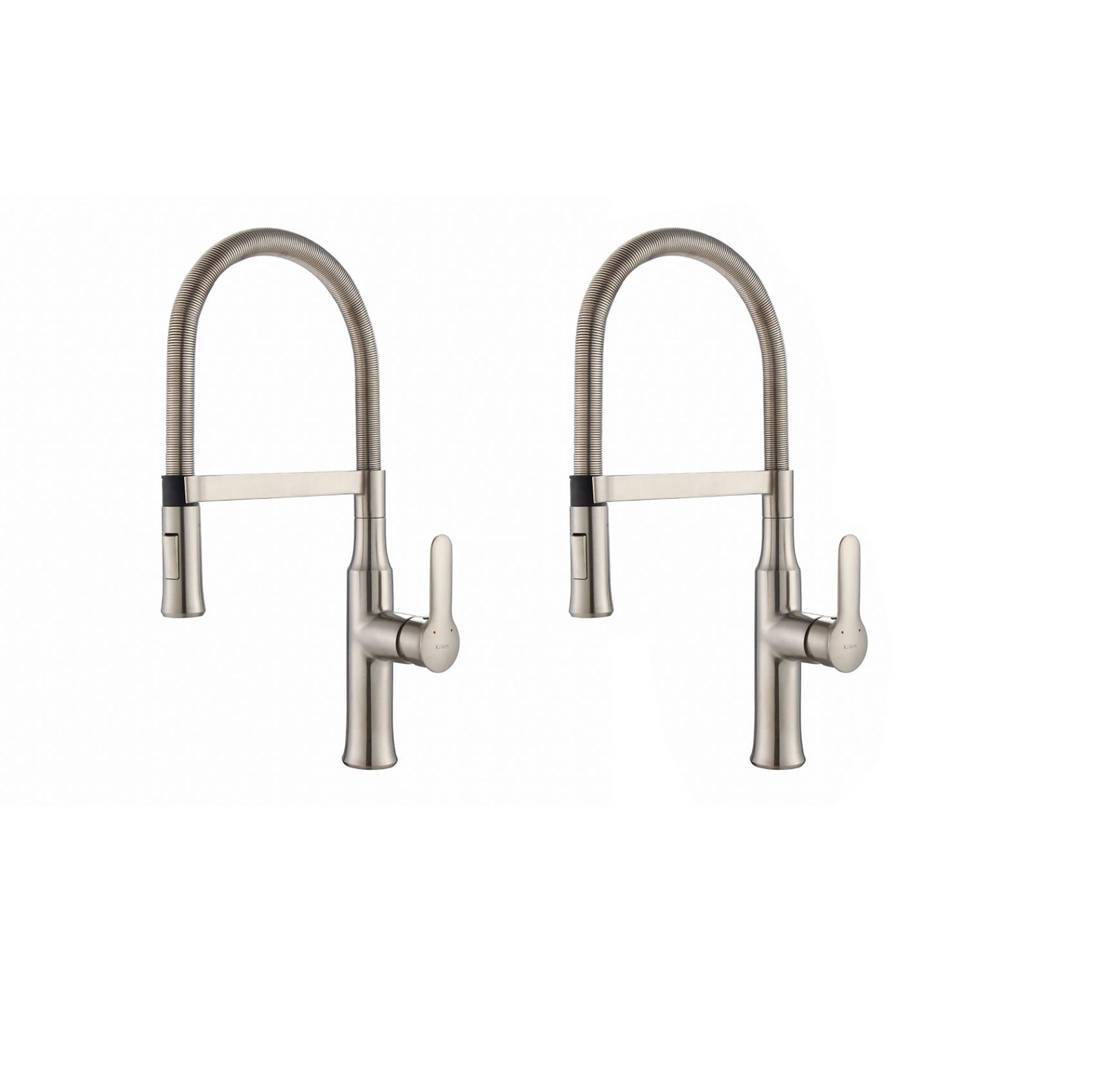 kitchen faucets stainless steel craftsman style cabinets kraus nola single lever pull down head faucet 2 pack