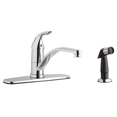 chicago faucets kitchen faucet side sprayer spout 432 abcp
