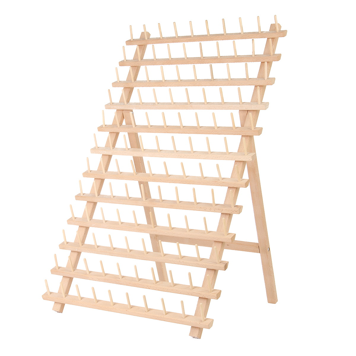120 spool thread rack wooden thread holder sewing organizer for sewing quilting embroidery hair braiding